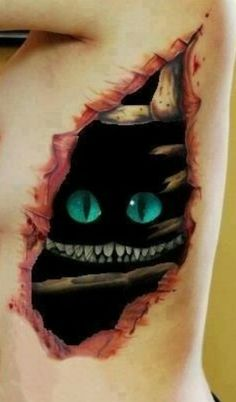 The monster inside you, ripped skin, 3D tattoo, broken ribs, being eaten inside out, 3D tattoo, body art, hidden monster, hidden desires, 3D, rage inside, demon indide, 3D art