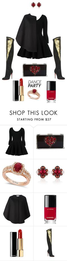 """""""Job Day 753"""" by minigiulia ❤ liked on Polyvore featuring Valentino, Lanvin, LE VIAN, Courrèges, Chanel and Christian Louboutin"""