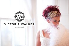 Vintage accessories designed and created especially for you and your big day by Victoria Walker Boutique   #veil #birdcage #tiara #comb #accessories #VWB #blush #bride #logo