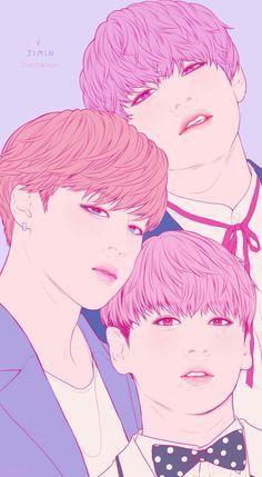 V ( Taehyung ), Jimin, Jungkook fanart