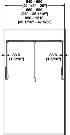 Hafele America wardrobe lift 26 lbs weight capacity in the häfele america