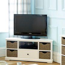 Cottage Ivory Corner TV Unit | Dunelm