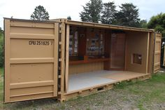 Shipping Container - A smart way to upgrade your backyard - Household Decoration Shipping Container Storage, Large Containers, Building Materials, Modern Architecture, Garden Tools, Building A House, Household, Shed, Backyard