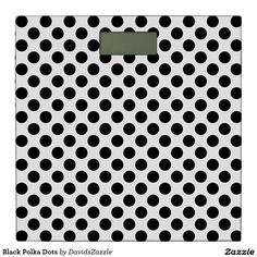 Black Polka Dots Digital Scale  Available on many products! Hit the 'available on' tab near the product description to see them all! Thanks for looking!  @zazzle #art #polka #dots #shop #home #decor #bathroom #bedroom #bath #bed #duvet #cover #shower #curtain #pillow #case #apartment #decorate #accessory #accessories #fashion #style #women #men #shopping #buy #sale #gift #idea #fun #sweet #cool #neat #modern #chic #laptop #sleeve #black #white