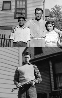Young Clint with his dad and sister