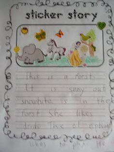 Sticker Story Writing – A Free, Year Long Literacy Center Activity Kindergarten Literacy, Literacy Activities, Literacy Centers, Literacy Stations, Kindergarten Language Arts, Work Stations, Writing Lessons, Teaching Writing, Primary Teaching