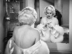 "nitratediva: ""Jean Harlow in Dinner at Eight "" Old Hollywood Stars, Hooray For Hollywood, Golden Age Of Hollywood, Classic Hollywood, Jean Harlow, Gold Jeans, Hollywood Vanity, Chanel Black, Old Movies"