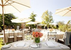 Napa Valley Outdoor Wedding Reception