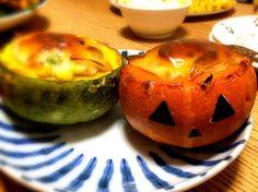 ハロウィンにちなんで‼ - 99件のもぐもぐ - かぼちゃの器グラタン by tattsumun