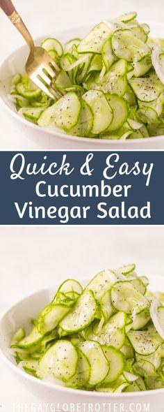 Side Salad Recipes, Cucumber Recipes, Chicken Salad Recipes, Healthy Salad Recipes, Vegetable Recipes, Vegetarian Recipes, Cooking Recipes, Recipe For Cucumber Salad, Cucumber Ideas