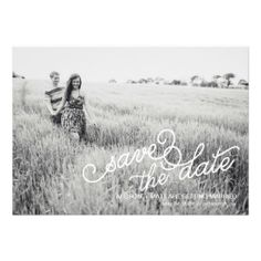 Photo Save the Date Card  by Blush Printables
