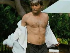 Dear writers of Hannibal, PLEASE give Mads more shirtless scenes. Thank you