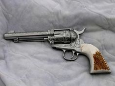 Ruger Vaquero revolver. LOVE the look of this pistol, and they shoot great too!