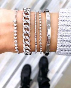 Diamond Bracelets, Sterling Silver Bracelets, Diamond Jewelry, Jewelry Bracelets, Silver Ring, Ankle Bracelets, Chain Bracelets, Trendy Bracelets, Diamond Pendant