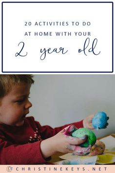20 Activities To Do At Home With Your 2 Year Old    Here are 20 awesome toddler activities that are fun and easy to implement at home. #toddleractivities #sensoryactivities #toddlers #activities #toddlergames #parenting #motherhood #kids #fun