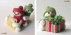 Handmade Polymer clay Christmas Ornament Crafts for Holidays _10