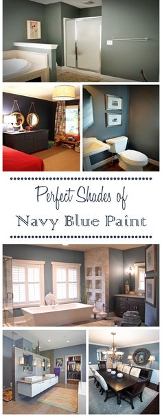 Perfect Shades of Navy Blue Paint Beautiful Houses Interior, Beautiful Homes, How To Varnish Wood, Navy Paint, Home Ownership, Model Homes, Home Improvement Projects, Decorating Tips, Living Spaces
