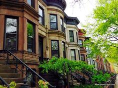 Brownstone houses in Brooklyn