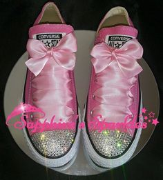 Customised Bling Crystal Adult Pink Converse 3 4 5 6 7 8 9  Converse   Trainers 63003a41b