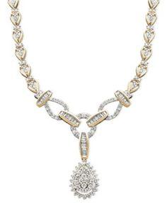 Diamond Teardrop Necklace in 14k Gold (2-1/2 ct. t.w.)