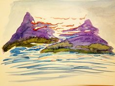 #watercolor #artdaily #arts_help #mountains #landscape