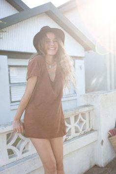 Kita Alexander | babe | jaxson tee dress | hippy | bohemian | free spirit Cali Style, My Style, Girl Style, Hippie Dresses, Tee Dress, Spring Outfits, Dresses Online, Girl Fashion, Classy