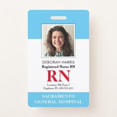 Shop Modern RN Nurse Badge created by Bolder_Design_Studio. Personalize it with photos & text or purchase as is! Nurse Name Badge, Id Badge, Registered Nurse Rn, Rn Nurse, Nurse Photos, Licensed Practical Nurse, Lpn Nursing, Name Badges, Business Photos