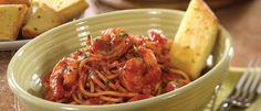 Roasted Garlic & Herb Shrimp with Spaghetti