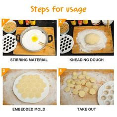 PRODUCT DESCRIPTION: Dumplings mold is so easy and quick to use. You just place a dough sheet on a mold, add filling in every opening, then cover with another How To Make Dumplings, Homemade Dumplings, Foods For Abs, Kneading Dough, Cooking Gadgets, Food Grade, New Recipes, Recipies, Keep It Cleaner