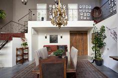 Paint scheme. Darker upper, white below. Works great. Venice Loft | Schuyler Samperton Interior Design