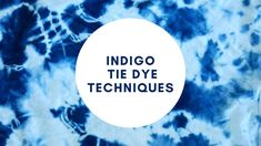 Learn to Tie Dye with Jacquard Tie Dye Kits Tie Dye Kit, Tie Dye Techniques, Indigo, Learning, Fabric, Tejido, Tela, Fabrics, Indigo Dye