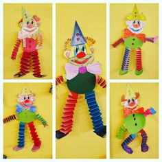 Das Journal of Chrys: Mein Projekt CIRCUS im Kindergarten – … – Rebel Without Applause Diy Crafts To Sell, Diy Crafts For Kids, Art For Kids, Arts And Crafts, Paper Crafts, Clown Crafts, Carnival Crafts, Art N Craft, Diy Art