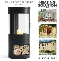 Howarth Bioethanol Stove: Real flames no chimney / flue required Woodburning Fire Effect & Flueless perfect for blocked fireplaces Shepherds Huts Conservatories. Pembrey Stow Malvern Bredon and more available from The Stove House 01730 810931 Log Burner Fireplace, Wood Burner, Electric Fires, Electric Stove, Cheap Stoves, Inset Stoves, Modern Stoves, Stove Installation, Conservatory Ideas