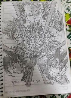 Desenho do Goku, em várias fases!