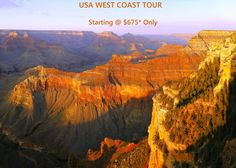 #USA West Coast 8 Day Tour - Starting at $675* Only.