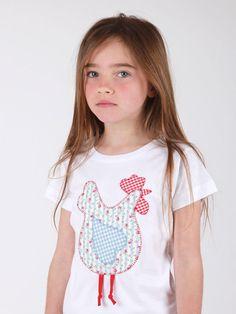 #camiseta #diseño #gallinita francesa #personalizada