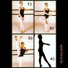 Developpe challenge.   To increase your range of motion and form in single leg hooping holds.  For best results seek a local ballet class.  Drills:  1) Move through image one to three holding for 20s minimum at step three. Both legs should remain turned out with your heel wrapping under and forward, knee pulling back. Engage lower abs to lift leg high as possible. Move through step 4.  2) repeat same movement to front and back.   3) try not to cry and smile big! ;-)