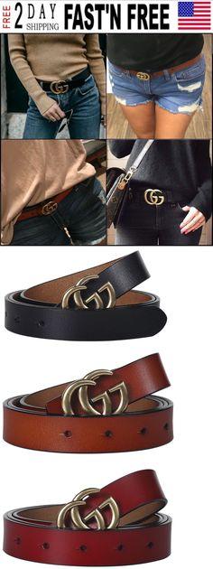 94b245de5fc Belts 3003  Women Ggenuine Leather Dress Belts Fashion Gucci Logo Pattern  For Jeans 2.5Cm