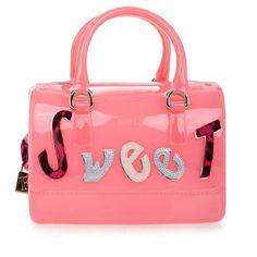 Furla Candy Lollipop Pink Mini Bag ❤ liked on Polyvore featuring bags, handbags, mini bags, furla handbags, furla, miniature purse and mini handbags