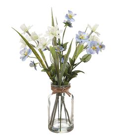 Look what I found on #zulily! Pansy & Daffodil Glass Vase Arrangement by Allstate Floral & Craft #zulilyfinds