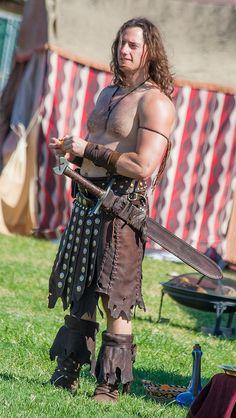 Las Vegas Renaissance Fair -Guardian of the belly dancers by Alaskan Dude, via Flickr