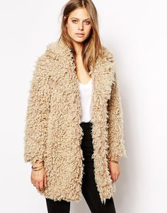 Supertrash Odyssey Coat in Fluffy Faux Fur http://asos.to/W7SzJ2