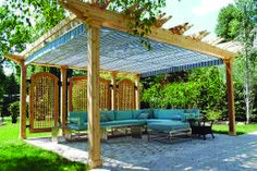 A pergola brings romance and aesthetics into the yard space, especially if it is entwined with flowering vines. These 40 pergola designs will give you