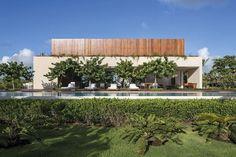 Belle maison secondaire construite à proximité d'une plage brésilienne