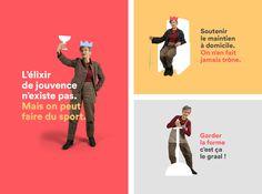 Identité visuelle de la Maison des Seniors de Chalon-sur-Saône.  Bien vivre le privilège de l'âge !