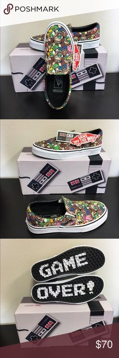 Vans Nintendo Super Mario Bros NEW New with Box Vans Shoes Athletic Shoes  Vans Slip On c9ebaf648