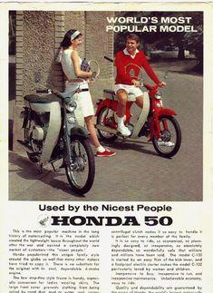 Honda Scooters, Honda Bikes, Motor Scooters, Honda Cub, Retro Bike, Retro Motorcycle, Classic Honda Motorcycles, Small Motorcycles, Classic Japanese Cars