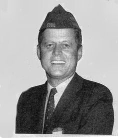 President Kennedy in his VFW hat