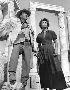 John Wayne and Sophia Lorene