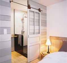 If I ever life in a studio apartment again, I wonder if I could fashion a non-permanent room divider like this?
